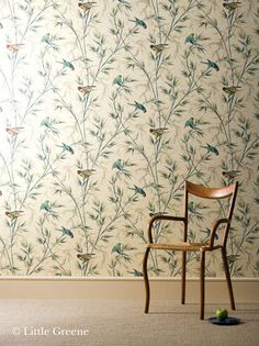 Little Greene Great Ormond Street - Parchment Heyse Lifestyle Citystudio Hannover. Stockist The Little Greene Hannover Parrot Wallpaper, Wall Wallpaper, Green Wallpaper, Wallpaper Ideas, Little Greene Paint, Latest Wallpapers, Vintage Wallpapers, Inspirational Wallpapers, Piece A Vivre