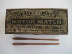 Bryant & May Motor Matches in tin box with striker pad & original matches