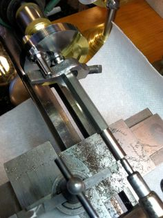 Mowrer ww watchmakers lathe steady rest machining lead screw between centers