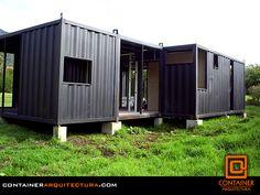 Casas contenedores casa hecha con contenedores y bamb en - Contenedores para vivir ...