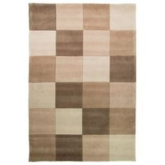Geo Blocks Rug - - Natural: Bold design and beautiful colours make this rug the perfect choice to… Rugs And Mats, Checkerboard Pattern, Square Rugs, Kitchen Rug, Home Furnishings, Home And Garden, Colours, Nature, Stuff To Buy