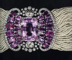Cartier: Seed Pearl Choker with an Amethyst & Diamond Clasp (late-19th Century)