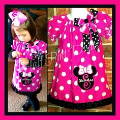 Items similar to or 18 mt Minnie Inspired Peasant Dress Sizes on Etsy 2 Year Old Birthday Party, 2nd Birthday, Birthday Ideas, Harajuku, Minnie Mouse, Summer Dresses, Sewing, Trending Outfits, Fall