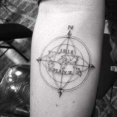 Compass! #compass #compasstattoo #tattoo #ink #blackink #blackandgreytattoos #fineline