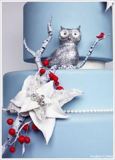Glittery Winter Owl by Avalon Cakes  |  TheCakeBlog.com