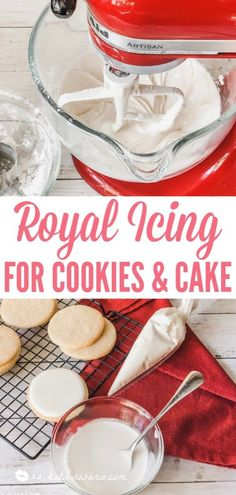 Royal Icing for Cookies & Cakes Royal Icing for Cookies & . - Royal Icing for Cookies & Cakes Royal Icing for Cookies & Cakes – XO, Katie - Wilton Royal Icing Recipe, Royal Icing Sugar, Sugar Cookie Icing, Best Sugar Cookies, Cake Icing, Sugar Cookies Recipe, Royal Icing Cookies, Icing Cupcakes, Decorate Sugar Cookie Recipe