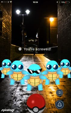 That moment playing a game when you realise you're screwed! Pokemon Go Photoshop