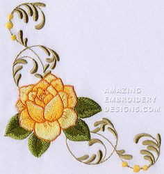 Free Embroidery Design: Rose                                                                                                                                                                                 More