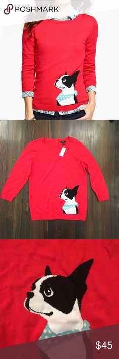 Talbots French bulldog terrier sweater NWT and adorable! Talbots Sweaters Crew & Scoop Necks