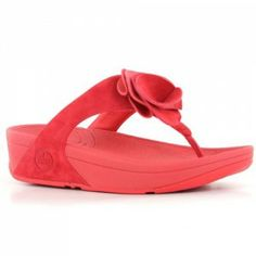 0e6c7900a5ed FitFlop Yoko Hibiscus Red Leather Womens Sandals are available at  http   ilovefitflops.