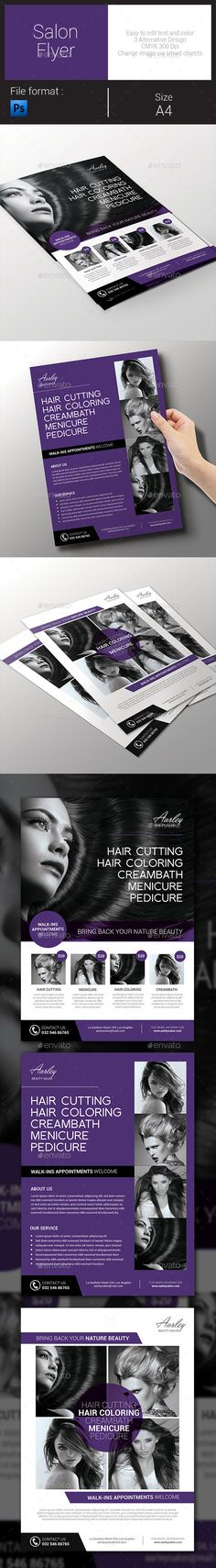 Salon Flyer — Photoshop PSD #skin #ad • Available here → https://graphicriver.net/item/salon-flyer/9172840?ref=pxcr