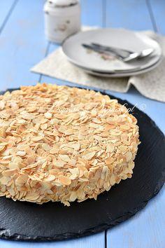 Szwedzki tort migdałowy Little Bites, Food Cakes, Cake Recipes, Dinner, Sweet, Drinks, Fit, Gastronomia, Cakes
