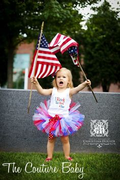 precious.   I Rock The Red White and Blue 4th of July Tutu by TheCoutureBaby