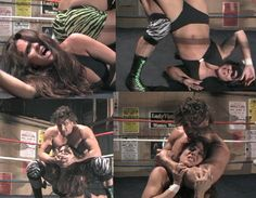 Vanessa Harding dominated in mixed wrestling action.