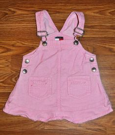 ebd76eae TOMMY HILFIGER GIRLS 6-12 MONTHS DRESS JUMPER CORD PINK 6 9 12 FALL WINTER