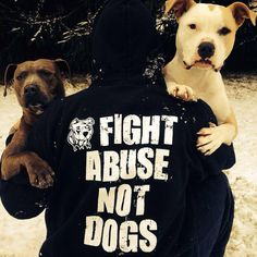Fight abuse not dogs...  Via Baltimore Bully Crew rescue on FB.