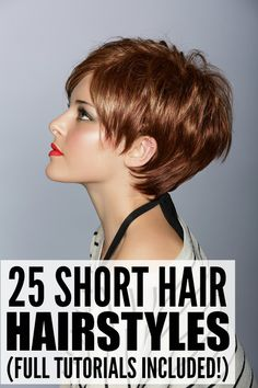 Many people assume short hair is boring and predictable, but that's not actually the case. In fact, after sorting through this collection of 25 short hair styles for women, I'm kind of tempted to trade in my long locks for something shorter and more fashionable. Check these out and let me know what you think. Full tutorials included!