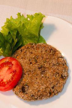 Hambúrguer vegan de berinjela, amêndoas e cereais | Priscila Di Ciero