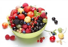 Poster of Summer treasure. Different berries in the bowl., Food Posters, #poster, #printmeposter, #mousepad, #tshirt