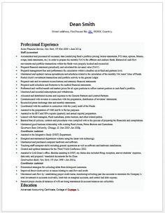 senior accountant resume sample resumeaccounting - Sample Resume For Accountant
