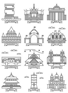 Cities by Shawn Choy, via Behance
