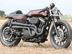 Harley Davidson cafe racer made by Hide Motorcycles Japan
