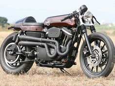Harley Davidson cafe racer made by Hide Motorcycles Japan