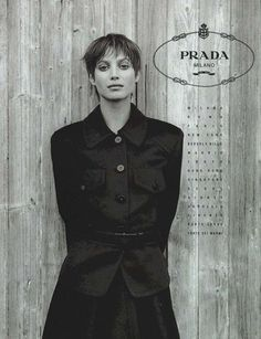 Christy Turlington by Peter Lindbergh for Prada Fall 1993.
