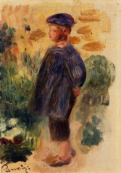 Portrait of a Kid in a Beret, 1892. Private Collection - Pierre-Auguste Renoir
