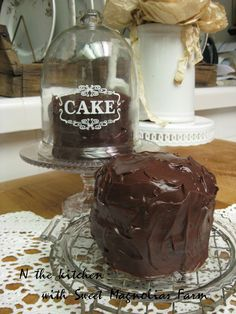 Sweet Magnolias Farm: Chocolate Buttermilk Cake ... Mmmm Mmmm Good ~ RECIPE ~ In the Kitchen with Sweet Magnolias Farm