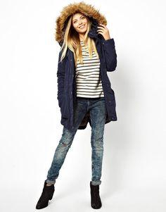 Vero Moda | Vero Moda Parka With Detachable Fur at ASOS