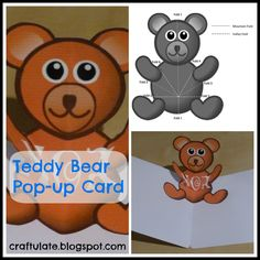 teddy bear pop up card template free - 1000 images about cartoes 3d on pinterest pop up cards