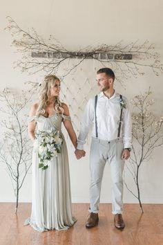 Macrame wedding ceremony backdrop | About Time Photography