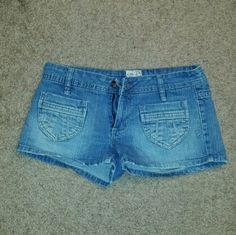 Jean shorts Mudd Jean shorts. No flaws. A little lighter blue than the pictures. Size 7 Mudd Shorts Jean Shorts