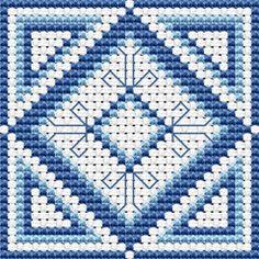 """Download and print the """"Blue Biscornu"""" cross stitch pattern"""