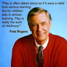 The importance of play.  So true