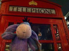 Eeyore finally gets to London, England.