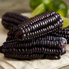 Maiz morado, purple corn, is grown in the Andes. High in antioxidants, use for traditional chicha morado or grind for tortillas and chips. Natural Food Coloring, Superfood, Gourmet Recipes, Health Benefits, Health And Wellness, Purple, Andes Mountains, Cholesterol Levels, Tortilla Chips