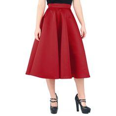 - høj talje - skinnende look a lá silke - lynlås i ryggen  Er du fan af 60'er-looket? Så er denne klassiske, røde nederdel for dig. Ud på dansegulvet og sving hofterne.