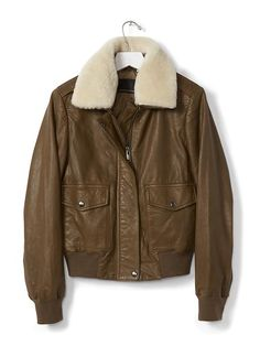 14 Spring Jackets for the Woman Who Is Always Cold Leather Flight Jacket, Leather Jackets, Always Cold, Cute Jackets, Spring Jackets, Military Jacket, Bomber Jacket, Style Inspiration, Banana Republic