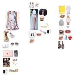 """3 outfits for spring"" by zaicute on Polyvore featuring beauty, Lipsy, L.K.Bennett, Aamaya by priyanka, Converse, Cara, Jeffree Star, Sans Souci, Topshop and MICHAEL Michael Kors"