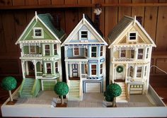 Row houses in gingerbread