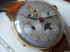Heuer Dato-Compax Triple Calendar Moonphase Chronograph