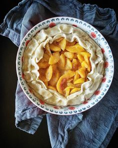 "Sssshhhh...my foodie peeps have gone to the market shopping. I want to surprise them with a ""Caribbean Rum  Coconut Liqueur Peach Ribbon Pie"" Into the oven you go!  #foodiepopups #sharethesunshine #peaches @passthesushi @yummylittlethings @girlscangrill @whit91 @amerryrecipe allyskitchen.com"