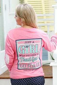 "NEW! ""Just a Girl Who Decided to Trust God and Go For It"" - Get yours online now at WWW.JADELYNNBROOKE.COM"