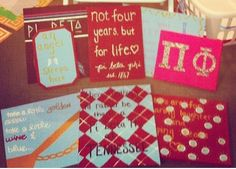 Love all these DIY Pi Phi canvases! #piphi #pibetaphi (TN Gamma)
