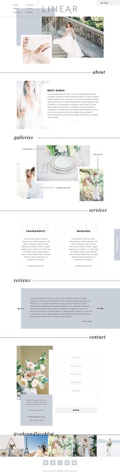 Linear - Showit theme, Showit template, Showit5  Linear is a website theme that offers the perfect balance of bold and dreamy. Amplify your business with this theme's confident and minimalistic aesthetic, professional and sleek layered design, and modern lines and color blocks to visually draw potential clients' eyes right to your beautiful work. This popular one-page design offers an interactive experience that allows clients to easily find what they need by simply scrolling down the page…