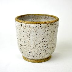 Honey Bee 8-ounce stoneware white tumbler cup by GlazedOver