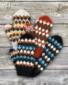 Excited to share this item from my #etsy shop: VIGJO mittens pattern for knitters - English and Norwegian