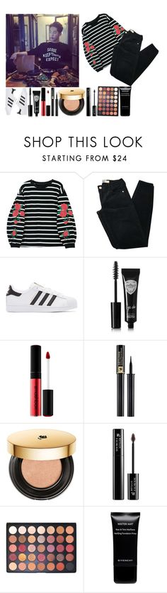 """Dinner with Joo Hyuk"" by the-broken-angel ❤ liked on Polyvore featuring Brandy Melville, adidas Originals, Eyeko, Smashbox, Lancôme, Morphe and Givenchy"